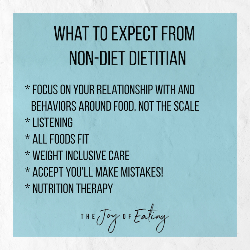 What to Expect Working with a Non-Diet Dietitian! #haes #intuitiveeating #bodypositive #bopo