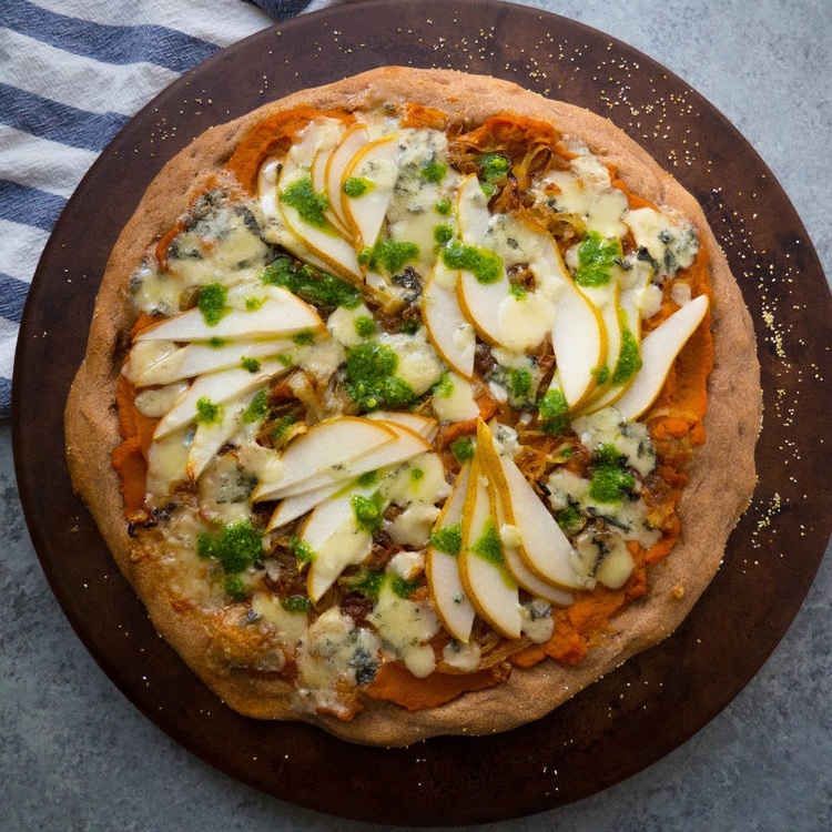 Pumpkin Pear and Gorgonzola Pizza