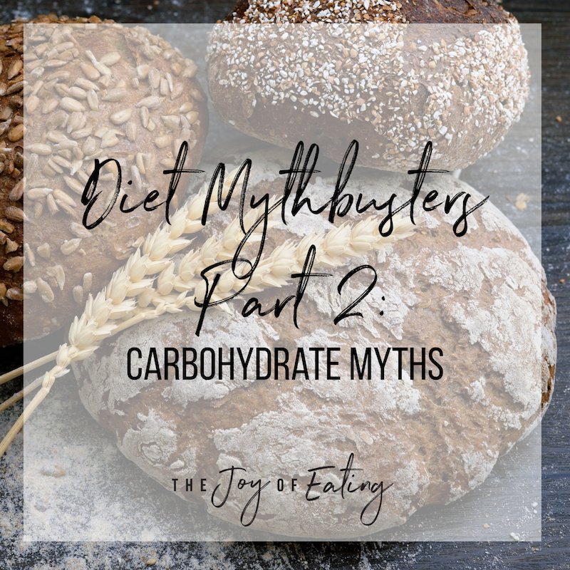 Mythbusting on carbohydrates! Four myths to stop believing! #carbs #nutrition #wellness #health #mythbusting