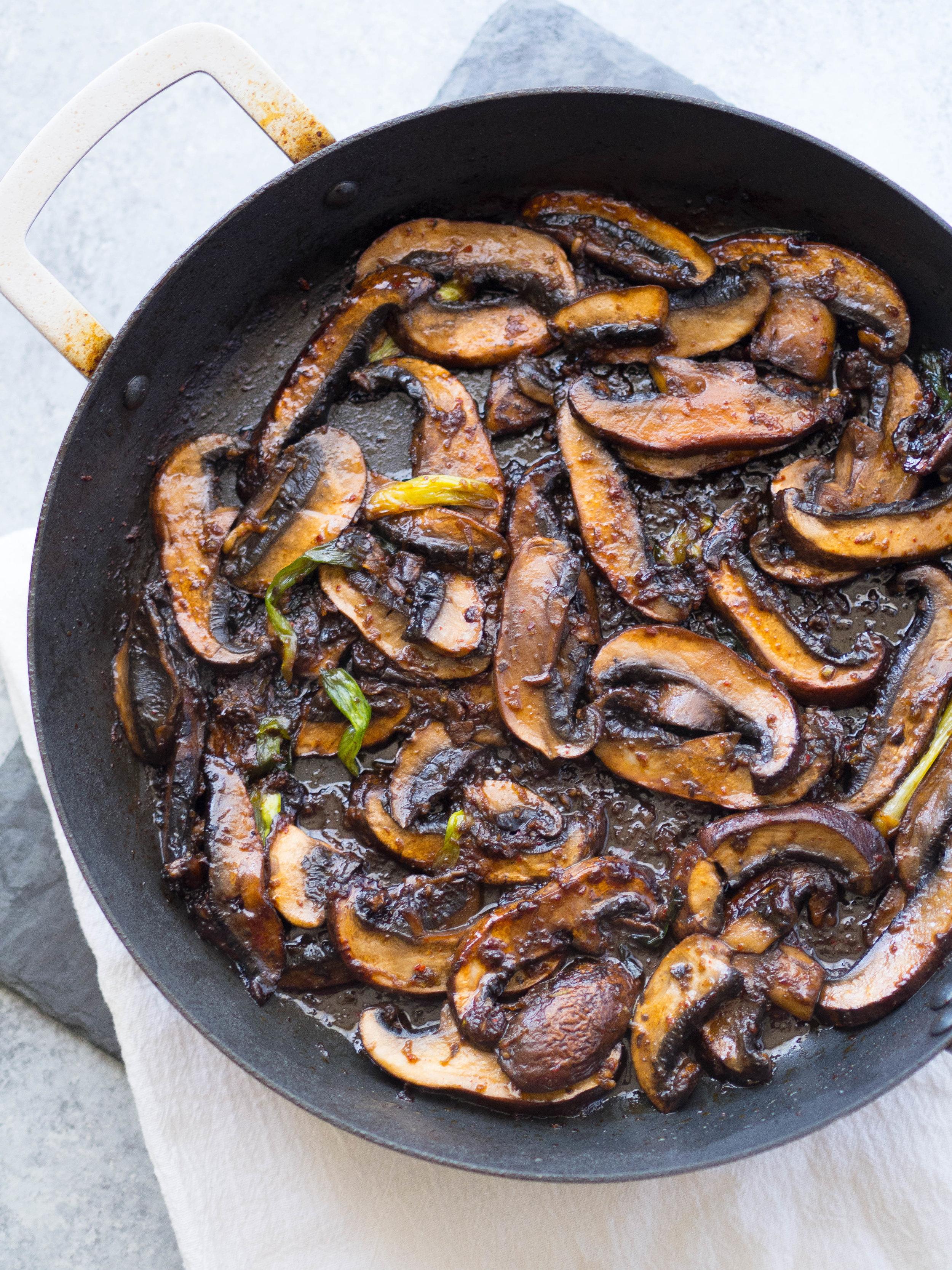 Bulgogi portobello for tacos! #vegan #vegetarian #portobello #mushroom