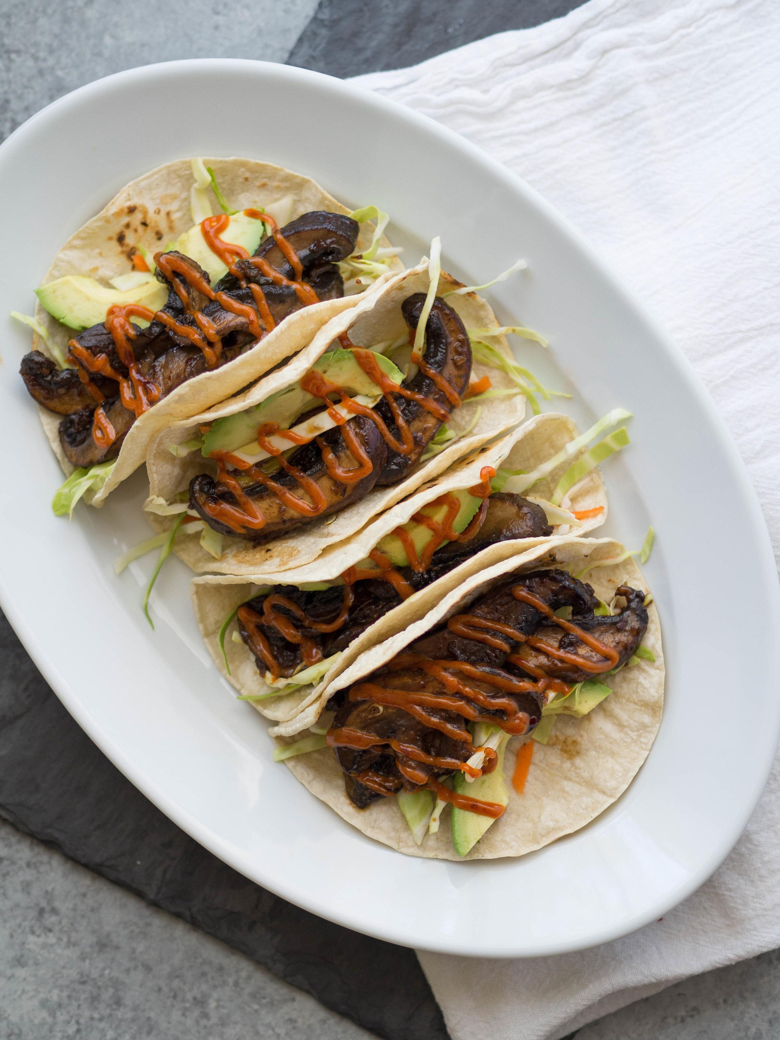Vegan portobello bulgogi tacos! #vegan #taco #bulgogi #vegetarian