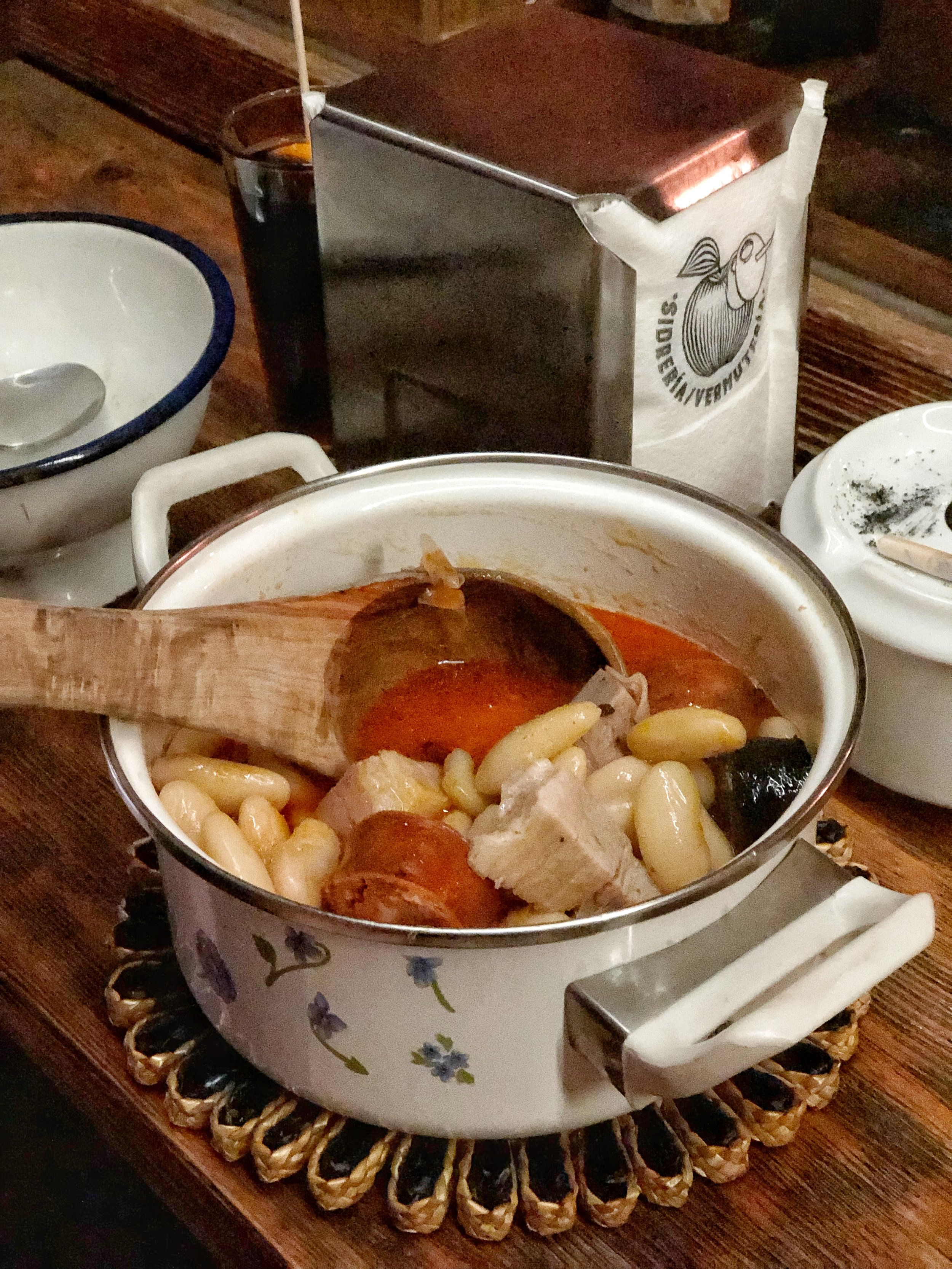 Fabada, a stew of giant beans with pork and sausage