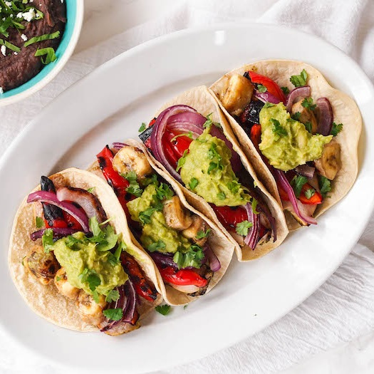 Cilantro-Lime Chicken Taco with Grilled Bananas