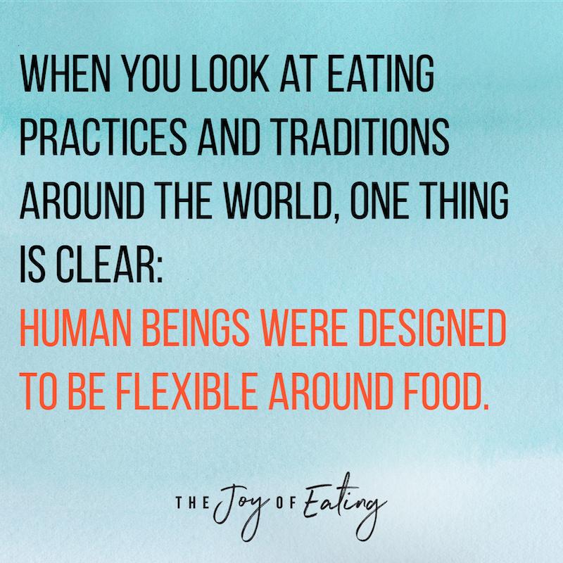 人们是在设计的食物在