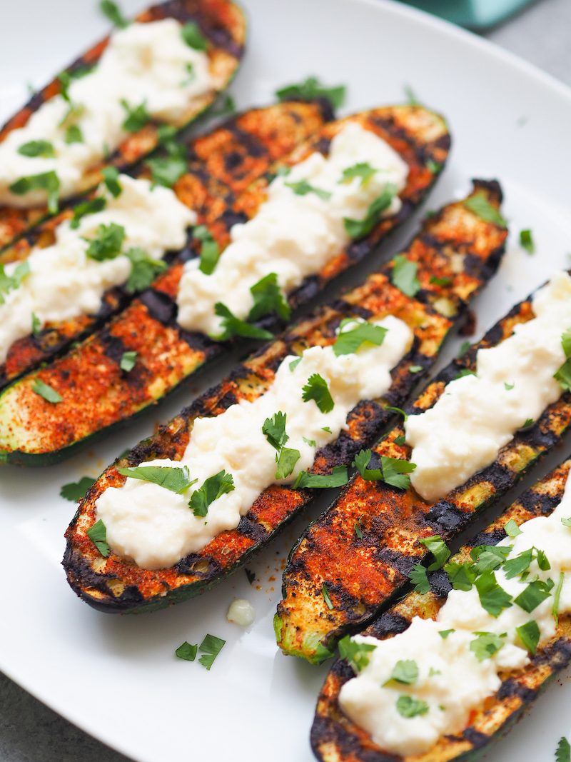Summer Grilled Mexican Zucchini Boats