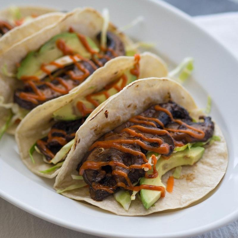 Bulgogi Portobello Tacos with Gochujang Mayo