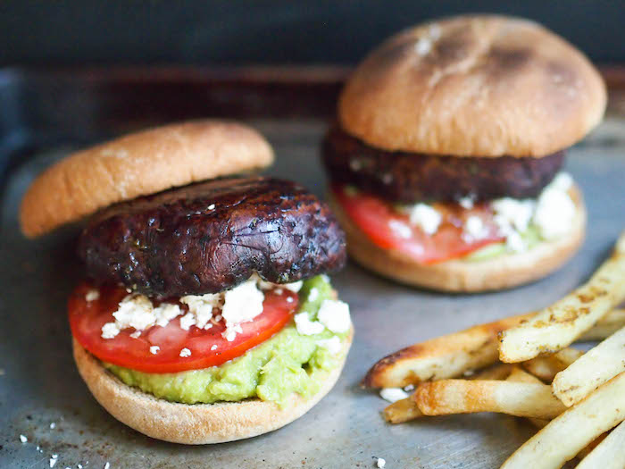 Vegetarian Grilled Balsamic Portobello Mushroom Burger