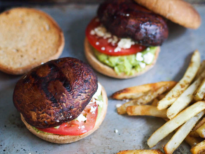Healthy Grilled Balsamic Portobello Mushroom Burger
