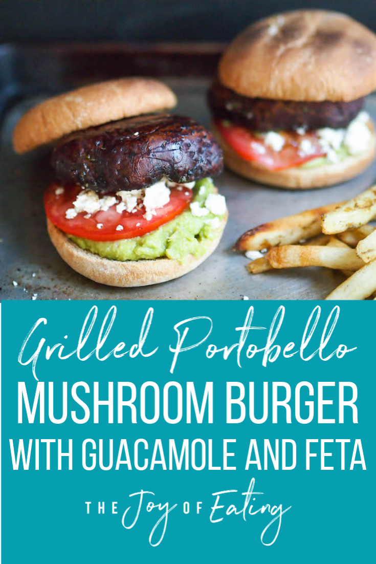 Grilled Balsamic Portobello Mushroom Burger! Meaty mushrooms marinated in balsamic vinaigrette are the perfect stand-in for beef! #burger #portobello #vegetarian #grilling #easyrecipe