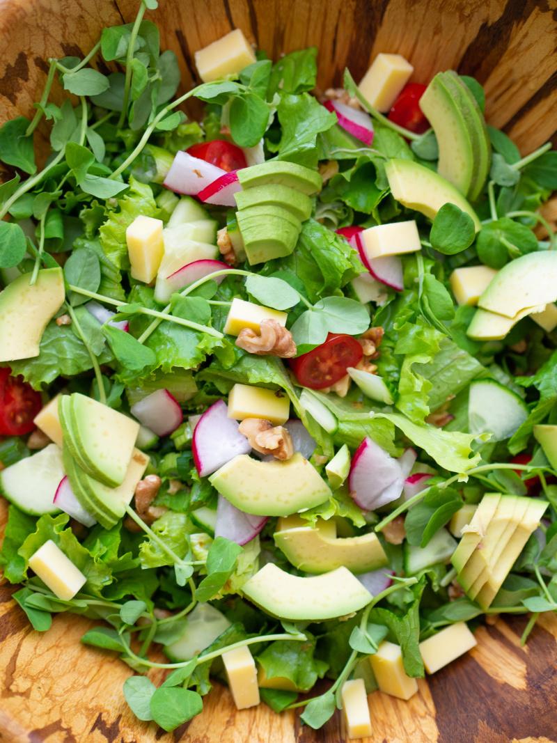 这是最棒的沙拉,你能把它放在这里,就能让你满意!##素食###克里斯蒂娜#烹饪沙拉,为素食#