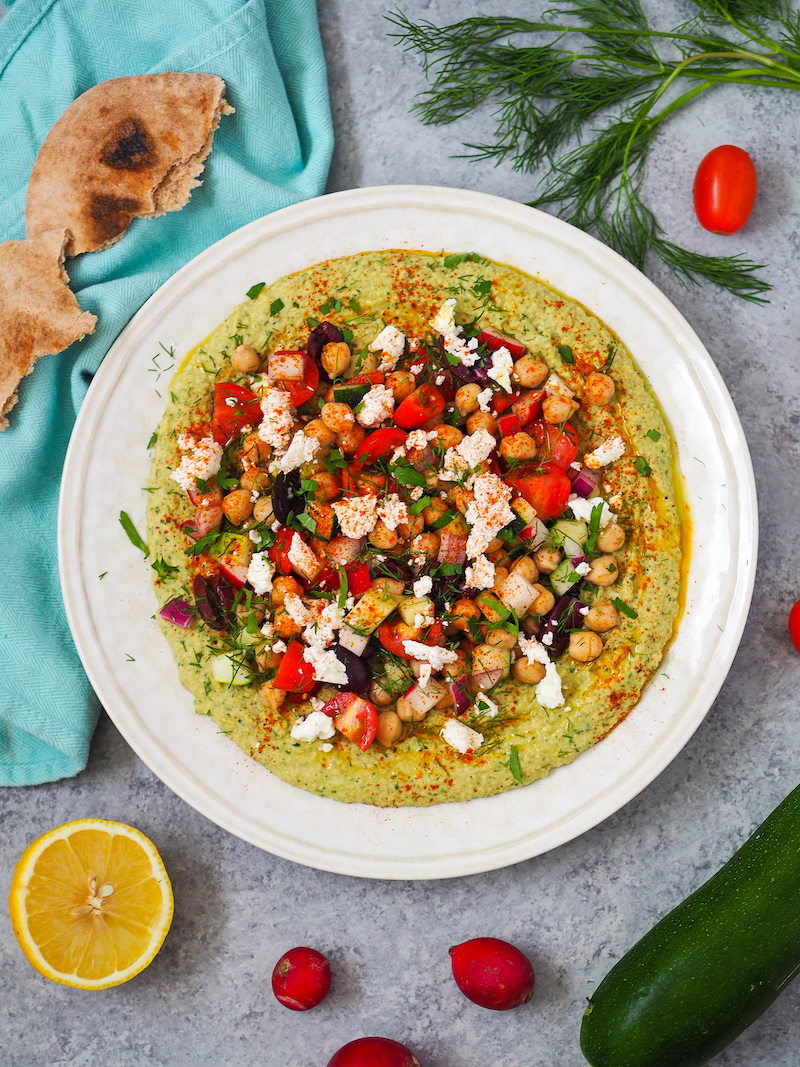 Summer Loaded Zucchini Hummus