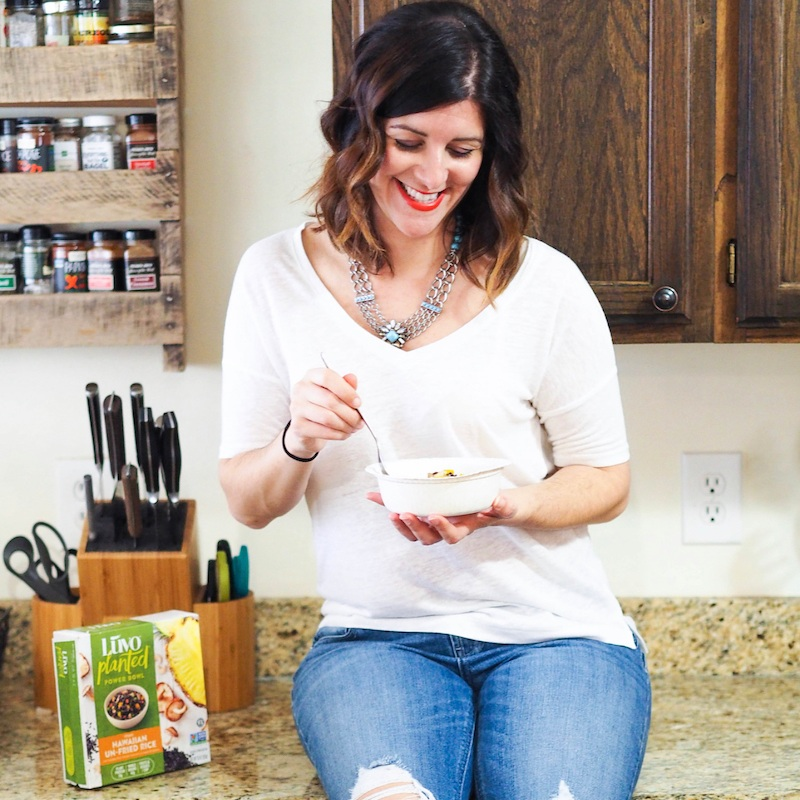 Sponsored social media and content development/blogging for luvo foods