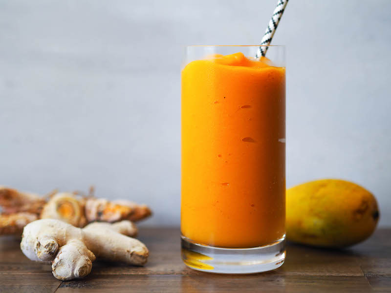Antioxidant Rich Turmeric Mango Smoothie