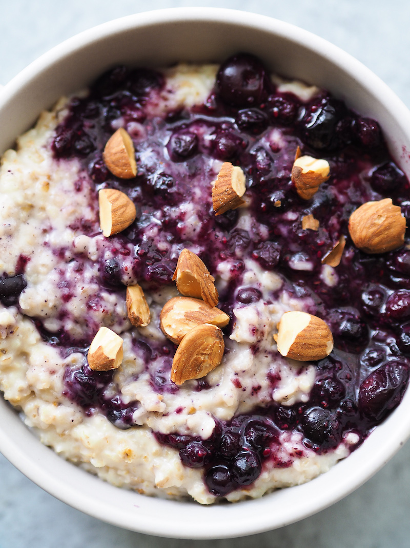 Coconut Blueberries and Cream Oatmeal
