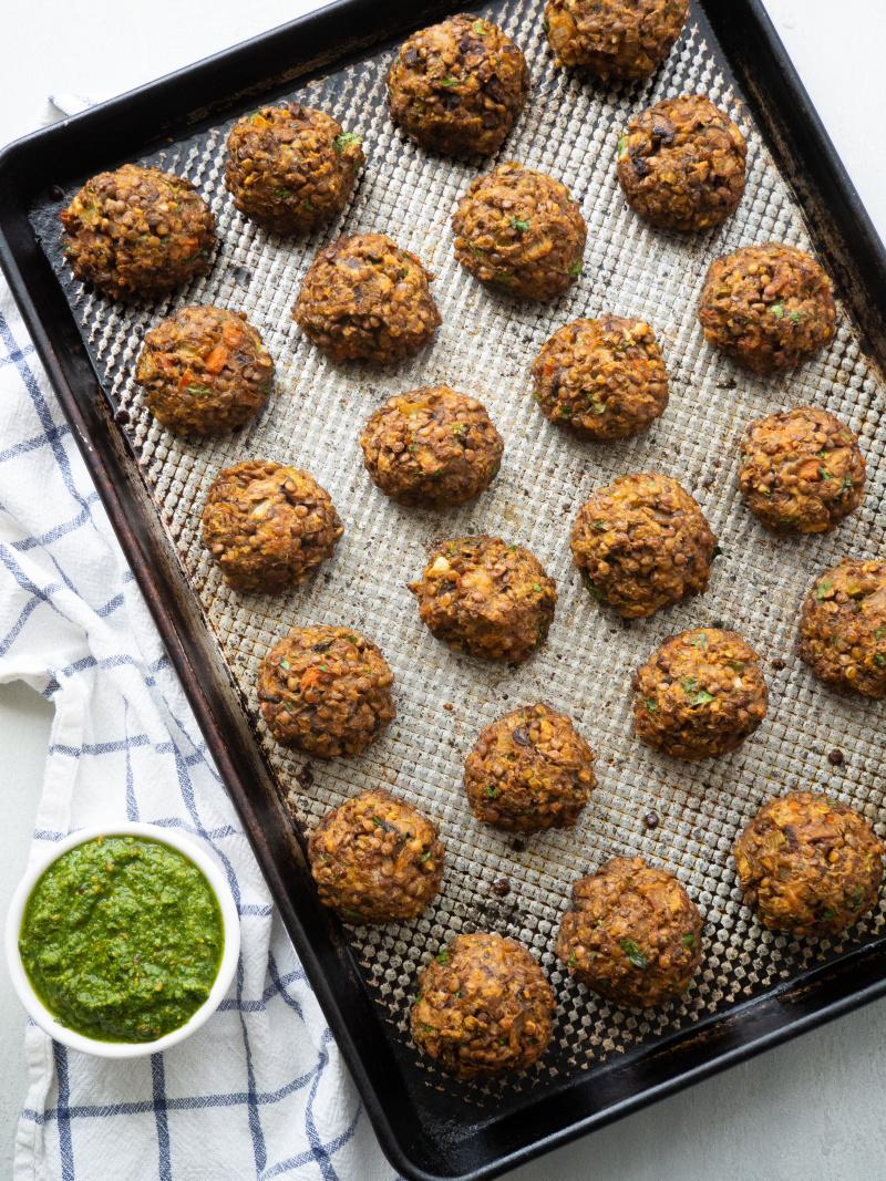 Healthy Vegetarian Lentil Meatballs