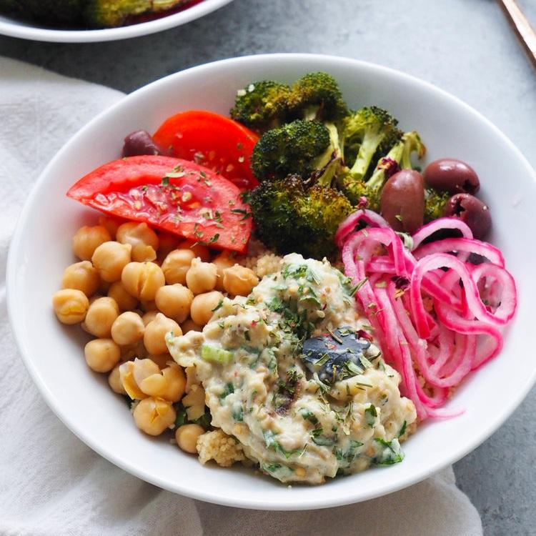 Vegetarian Babaganoush Bowl