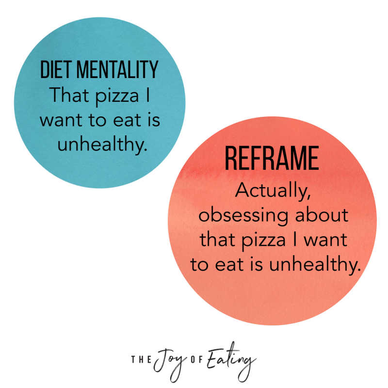 Activities for How to Reframe Diet Mentality Thoughts in Intuitive Eating