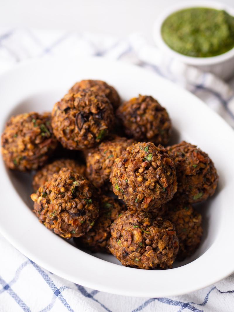 The Best Vegetarian Lentil Meatballs Recipe