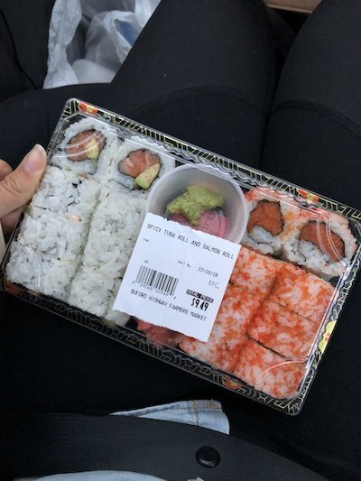 What an Intuitive Eater Eats in the Day - sushi