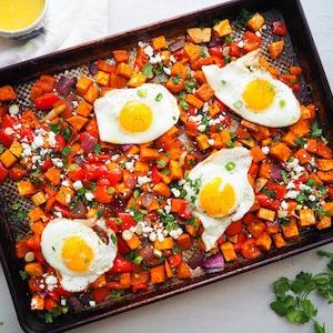 Southwestern Sweet Potato Hash with Chili and Orange