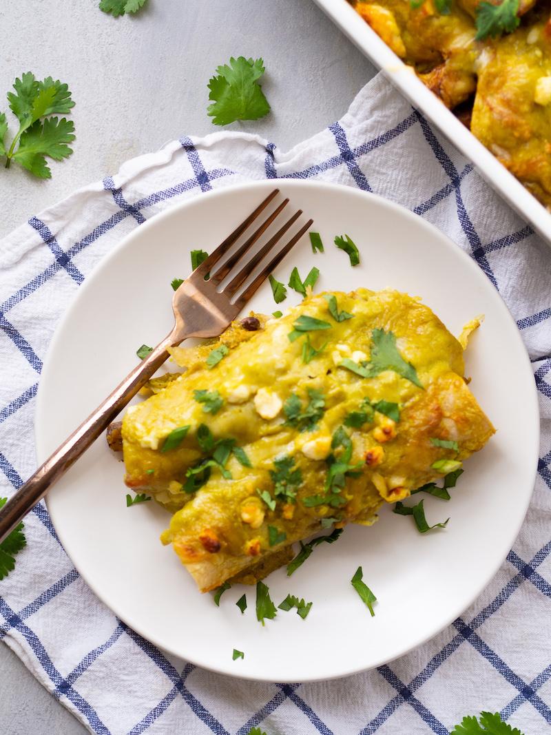 Make Ahead Vegetarian Breakfast Enchiladas Recipe