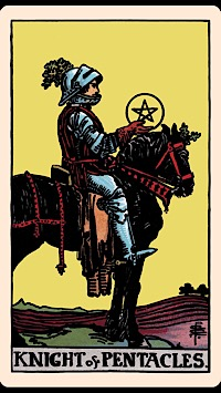 The Card Of The Day The Knight Of Pentacles Elliot Oracle Tarot Card Readings 5 of pentacles tarot card meaning. the card of the day the knight of