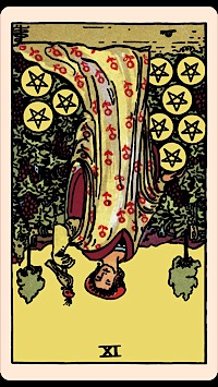 The Card of the Day: The Nine of Pentacles (Reversed