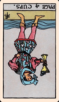 The Card Of The Day Page Of Cups Reversed Elliot Oracle Tarot Card Readings