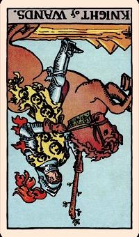 Kartu Hari Ini: The Knight of Wands (Terbalik) — Elliot Oracle - Pembacaan Kartu Tarot