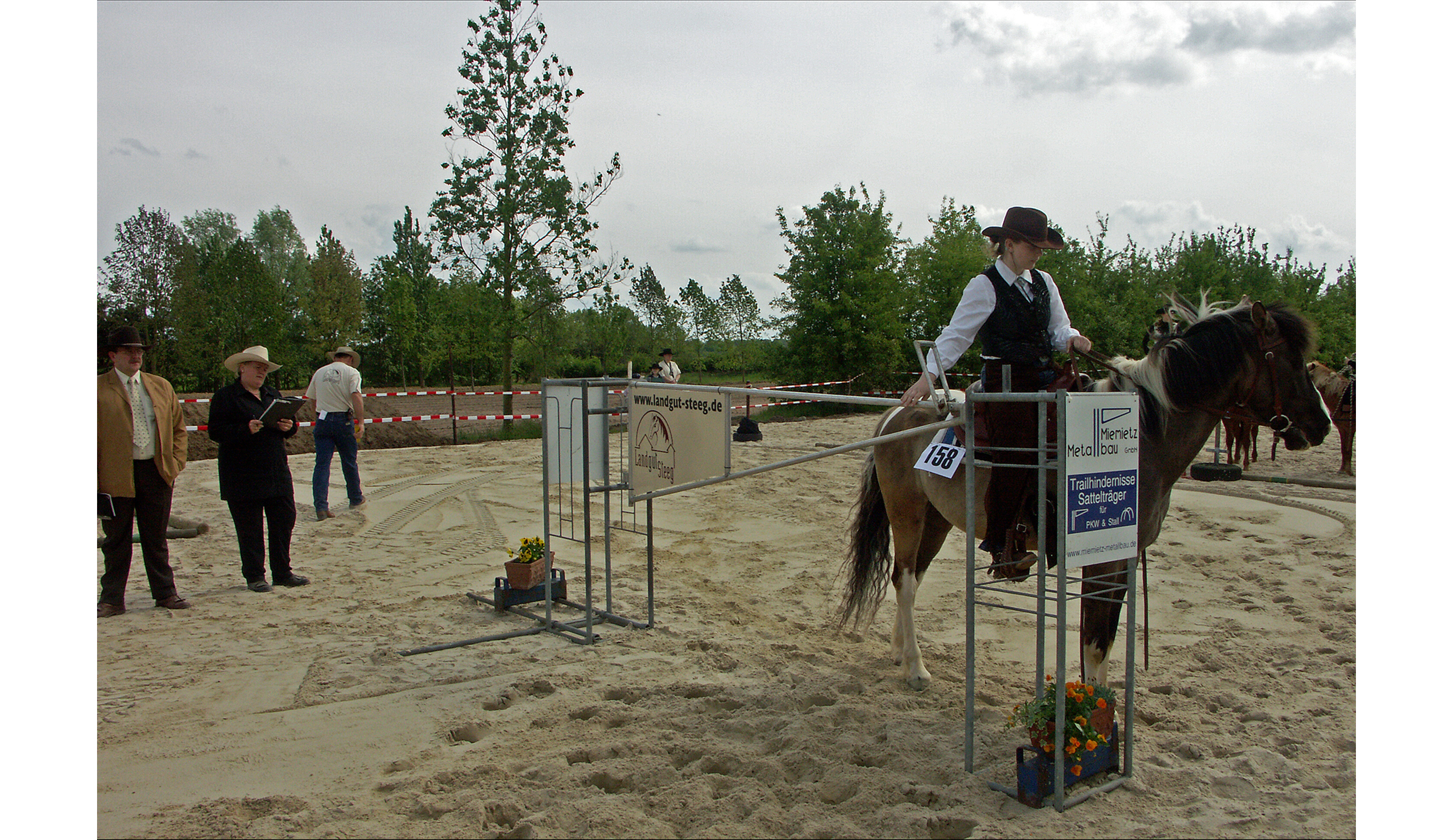 """Scooby and I competing in the """"Trail"""" class. Look how much my father's photography had already improved at that point. Please note it is recommended that under-18s always wear a protective riding hat. It was not mandatory at competitions back in the dark ages but it is now."""