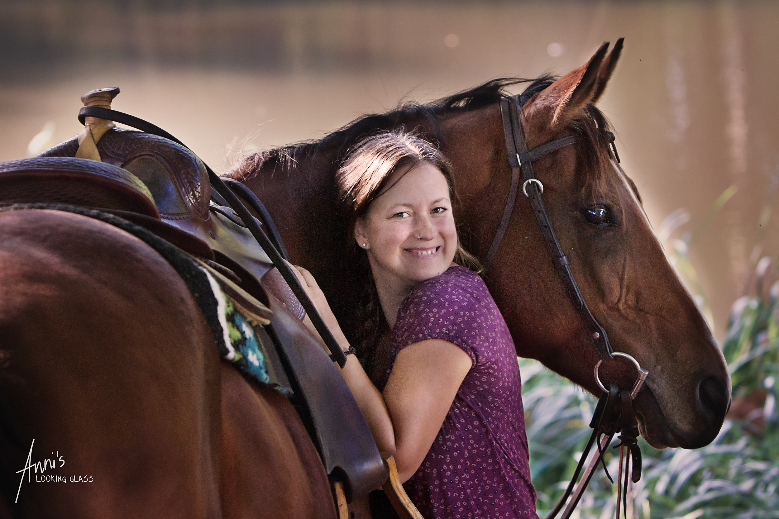 Julia works at the Banti-Cow Ranch, taking wonderful care of the horses and guests.