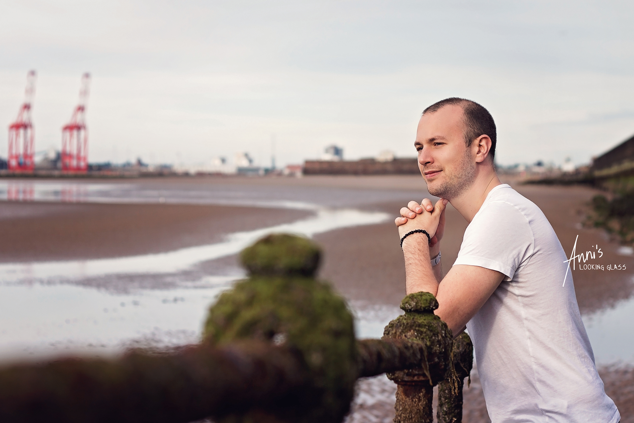 4 - My boyfriend during an impromptu beach session in New Brighton in the Wirral.