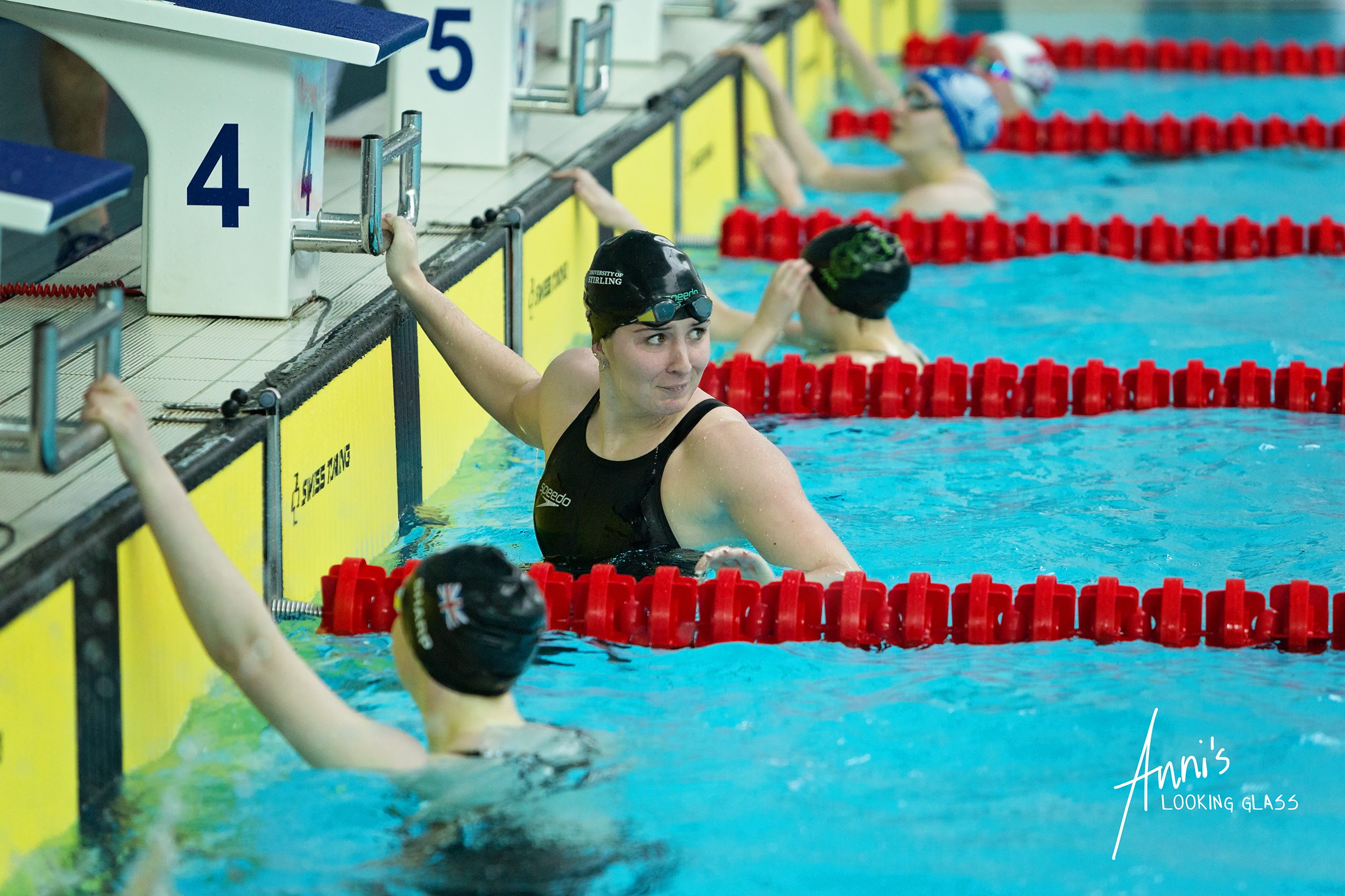 Loughborough Photographer: Swimmers have just finished a race at Loughborough University's pool. 24th March 2018