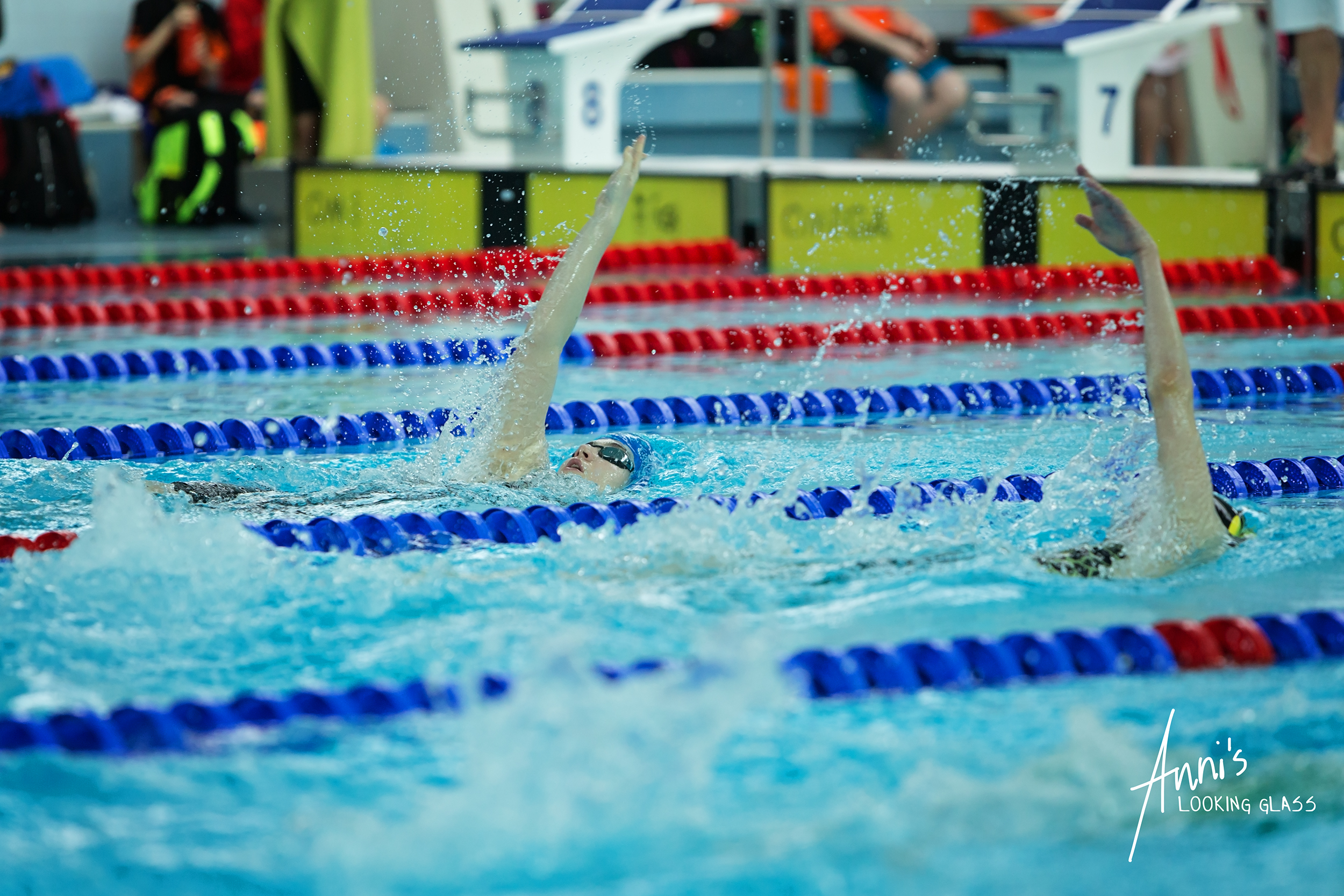 Loughborough Photographer: Swimmers competing at Loughborough University's pool. 24th March 2018
