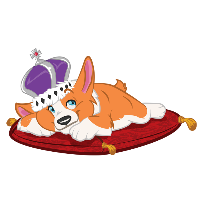 Sir Woofs A-Lot - Our loyal hero Sir Woofs A-Lot! This corgi will do whatever it takes to save his mom.