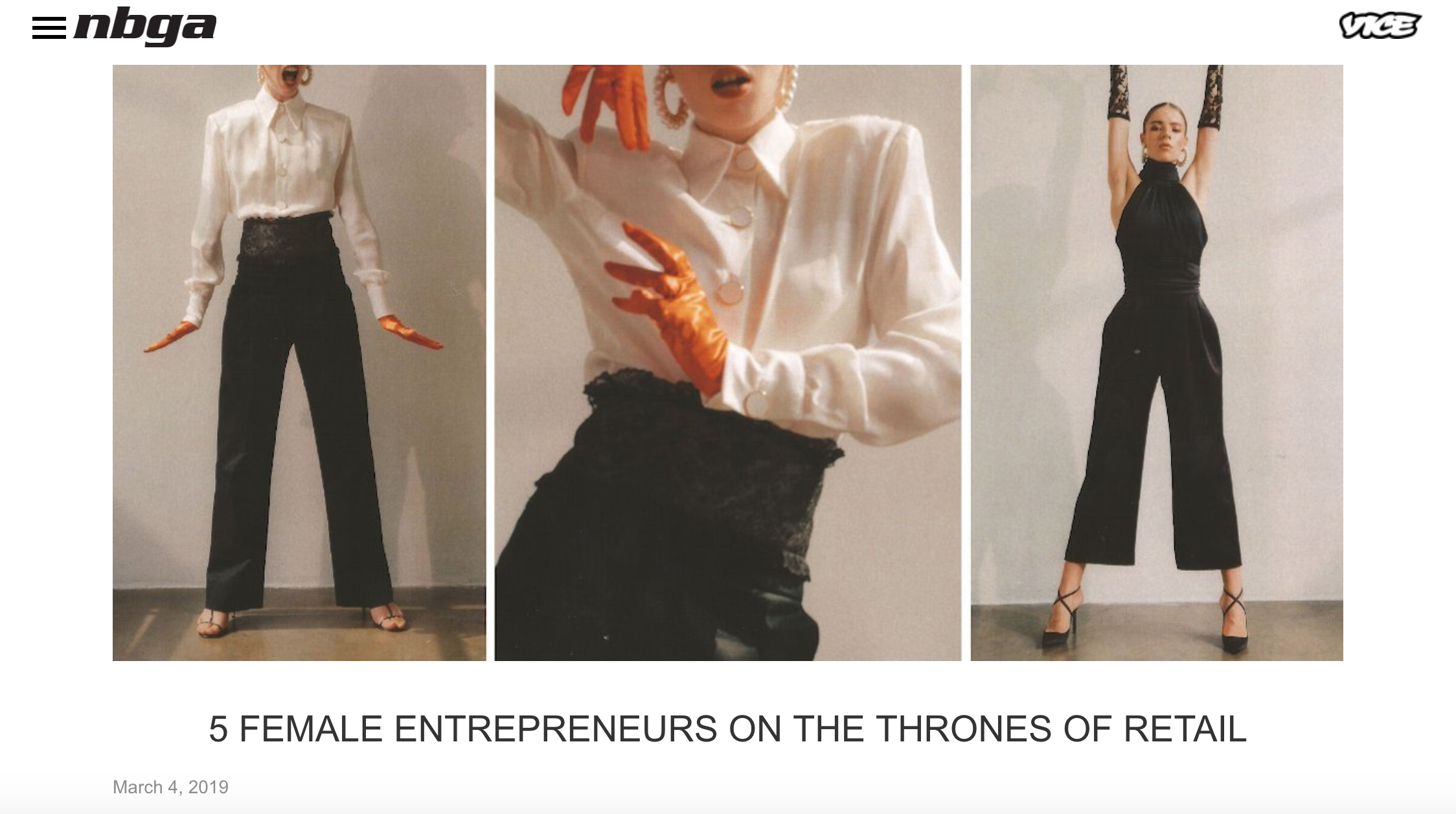"NBGA - ""5 Female entrepreneurs on the thrones of retail."""