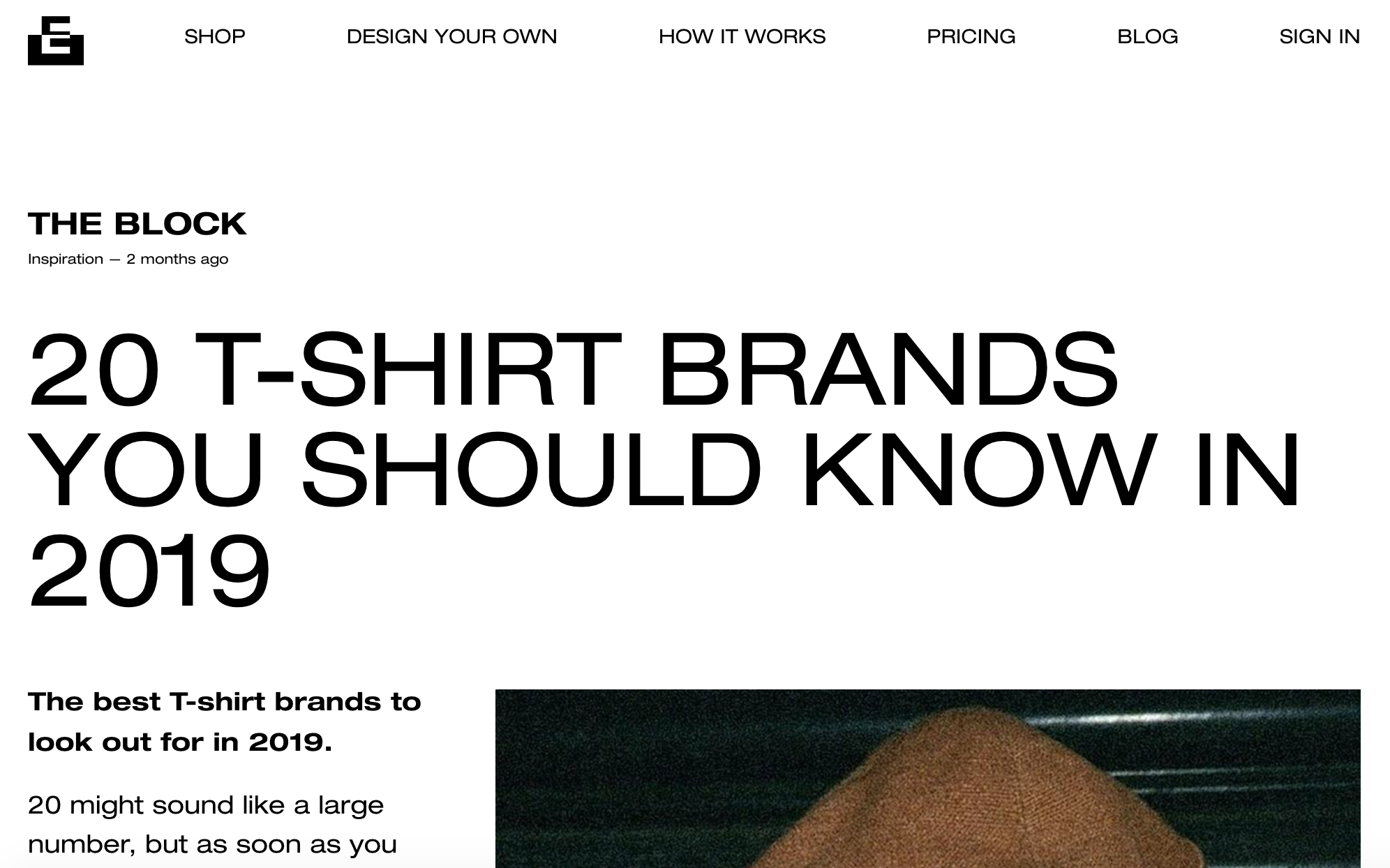 "Everpress - ""20 t-shirt brands you should know in 2019."""