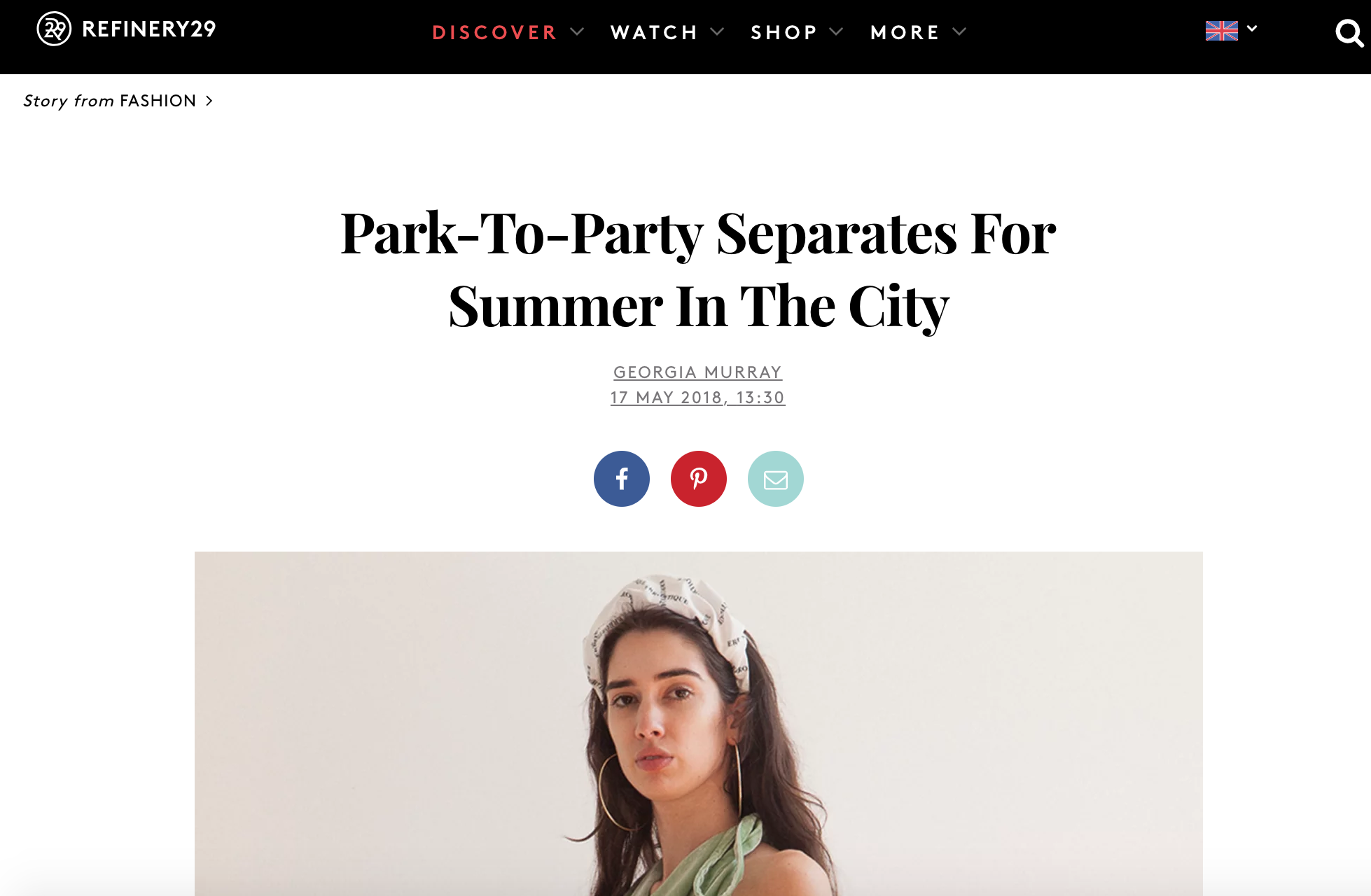 "Refinery 29 - ""Park-To-Party Separates For Summer In The City"""