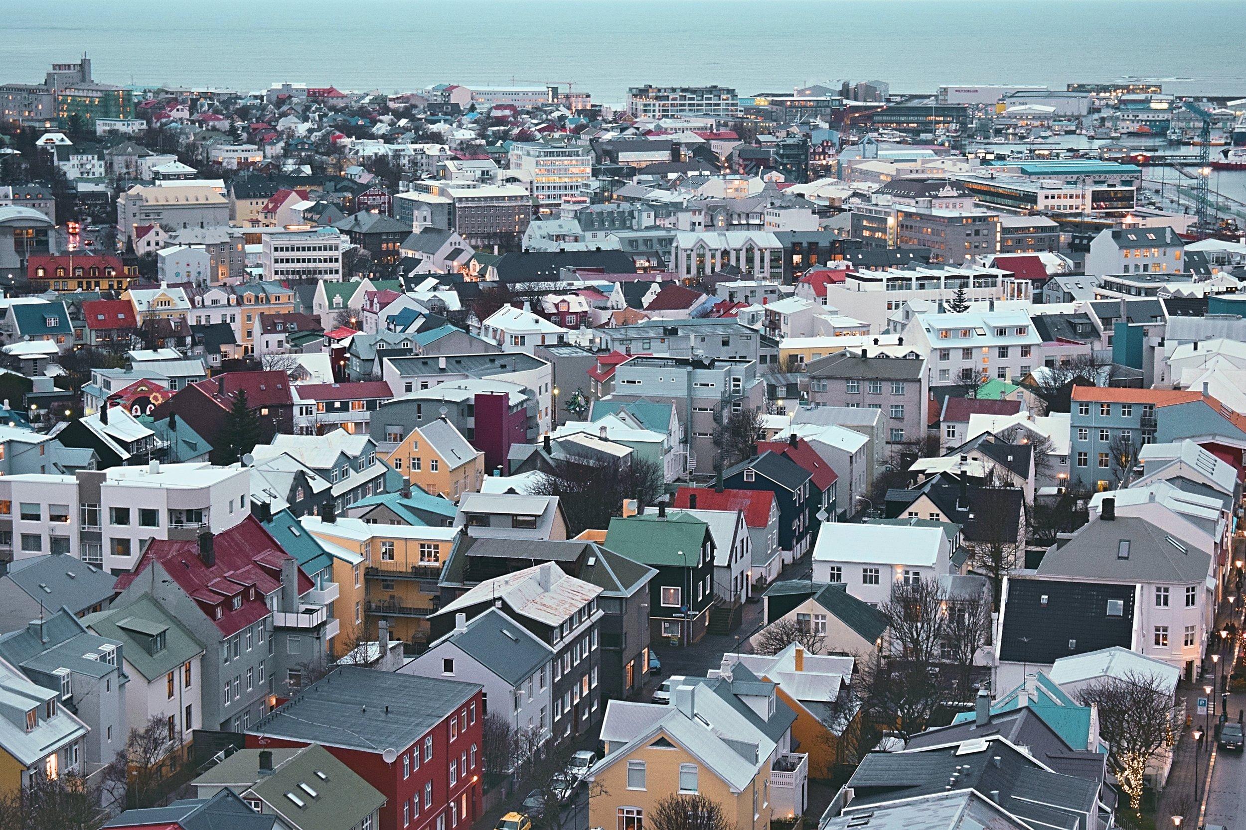 KANO Travel & Trip to Reykjavik Downtown from Hallgrimskirkja church   Iceland