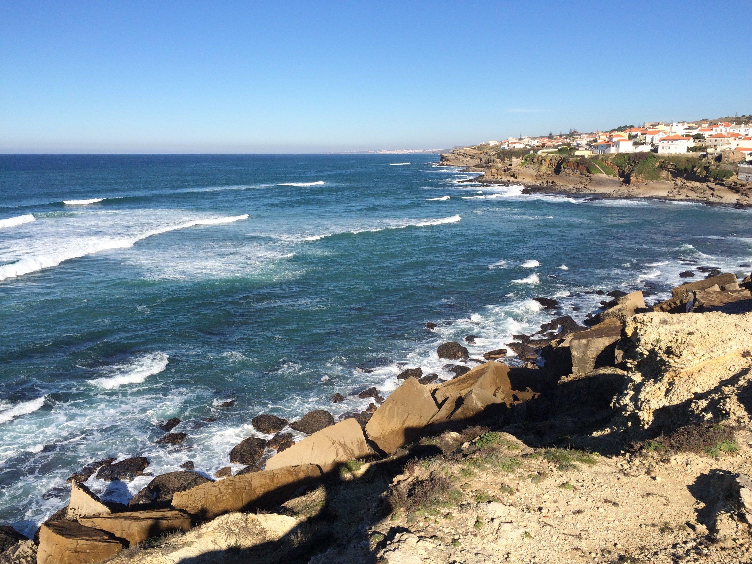 Just along the coastal path from Praia das macas