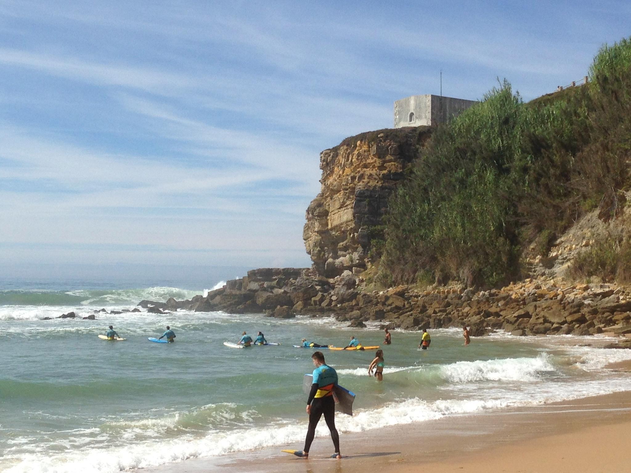 Surfing Magoito beach