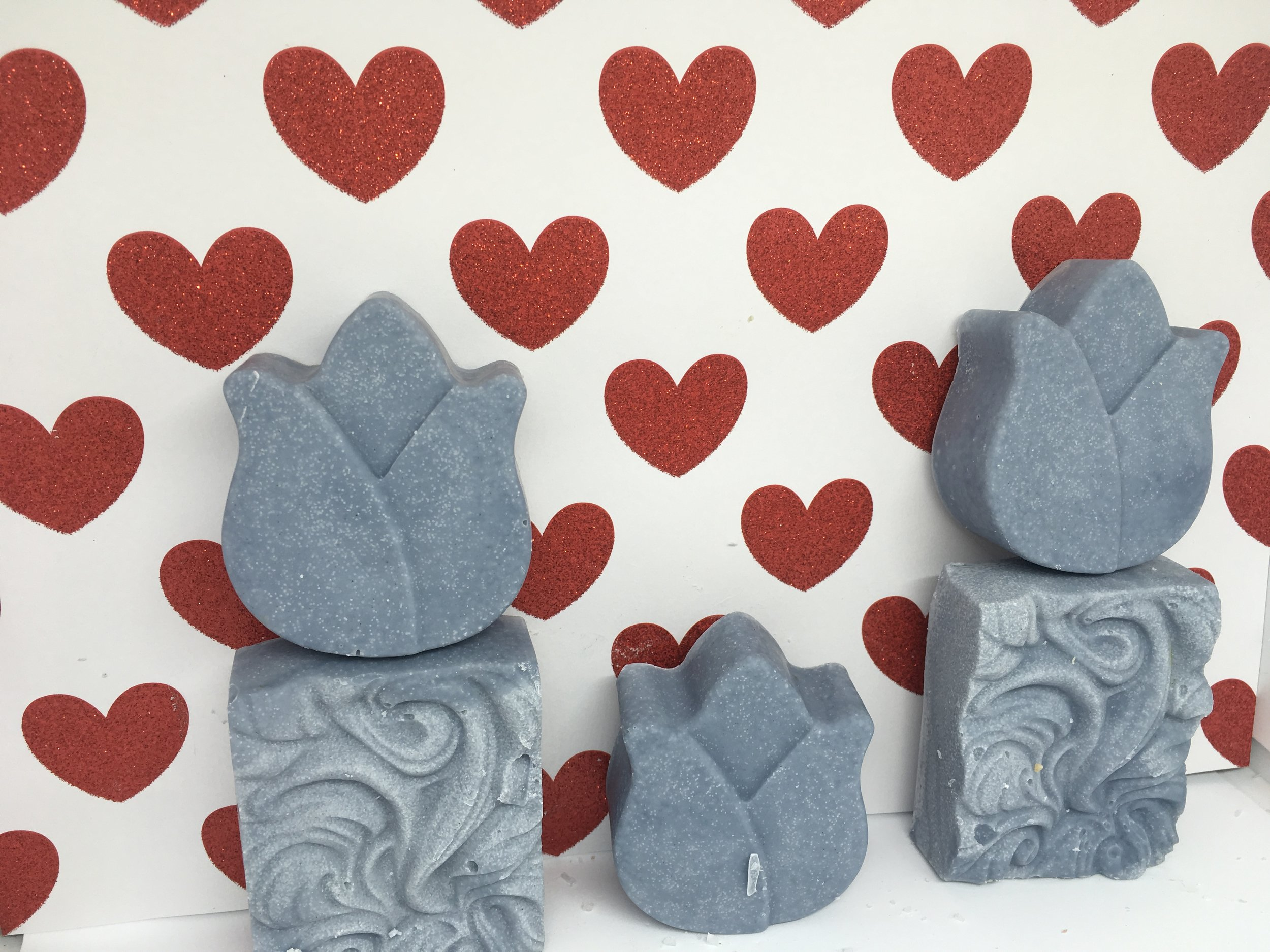 flowers, hearts and wavy molds $5.00 to $6.00