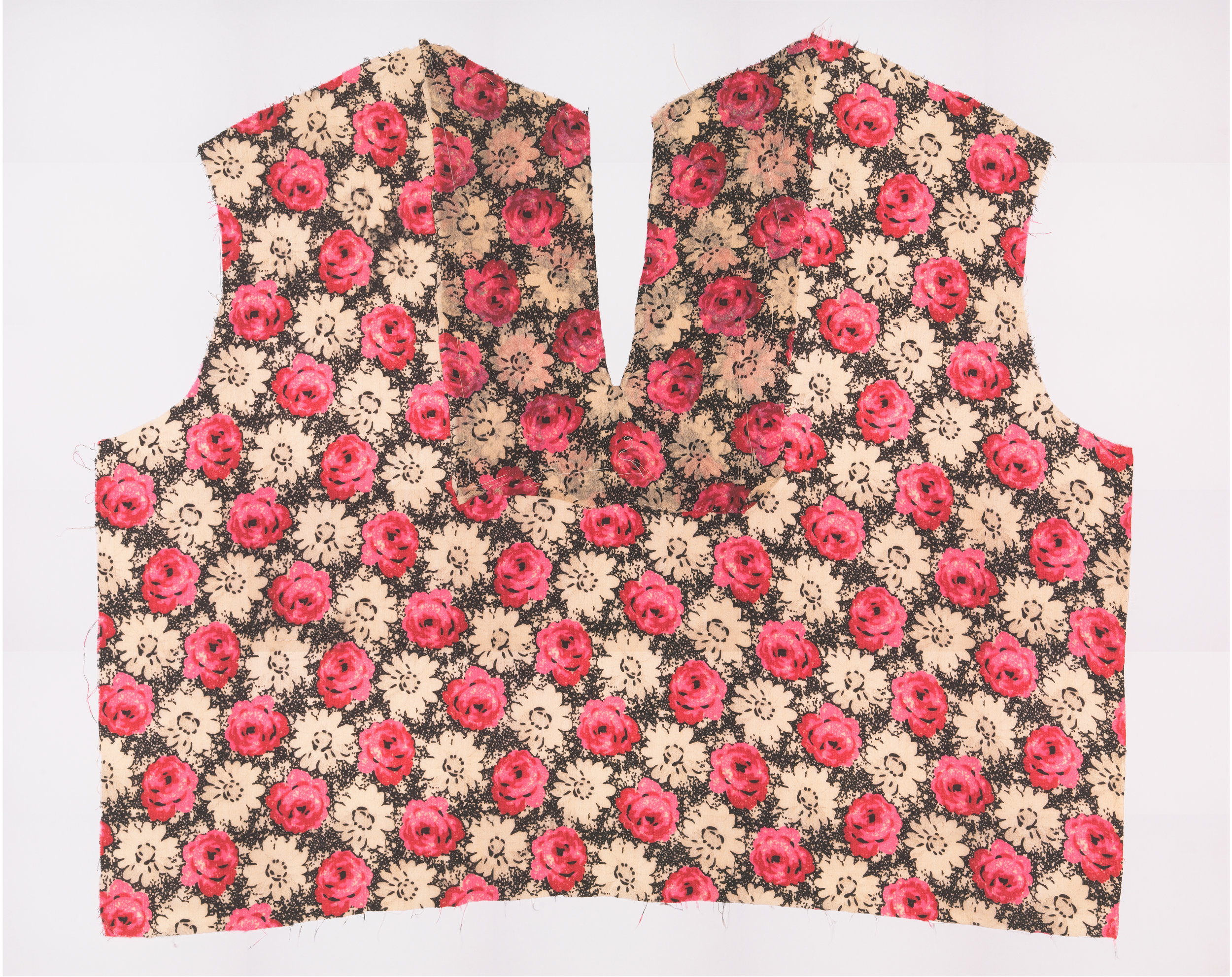 Two Photographs of Both Sides of a Dress Fragment, 2008