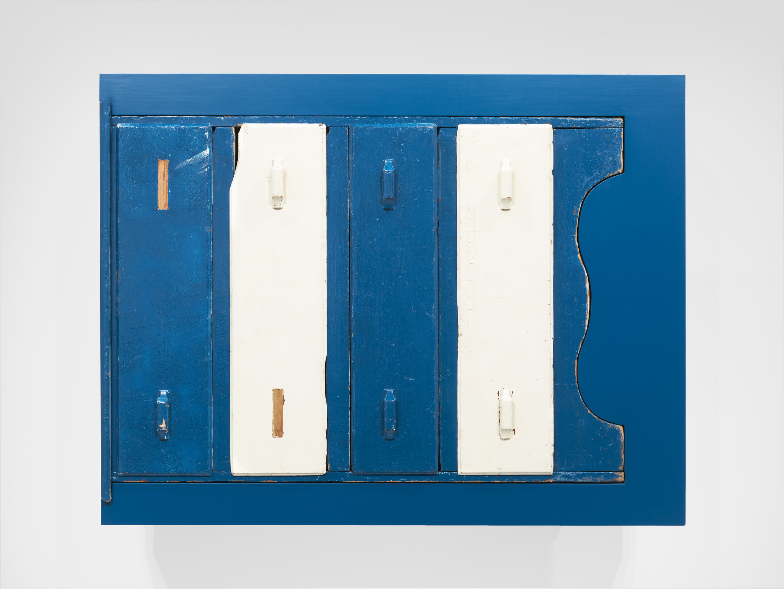 Untitled (found blue chest), 2011