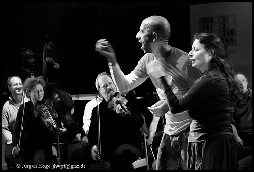 With Improvising Orchestra, Wuppertal, Germany, 2009