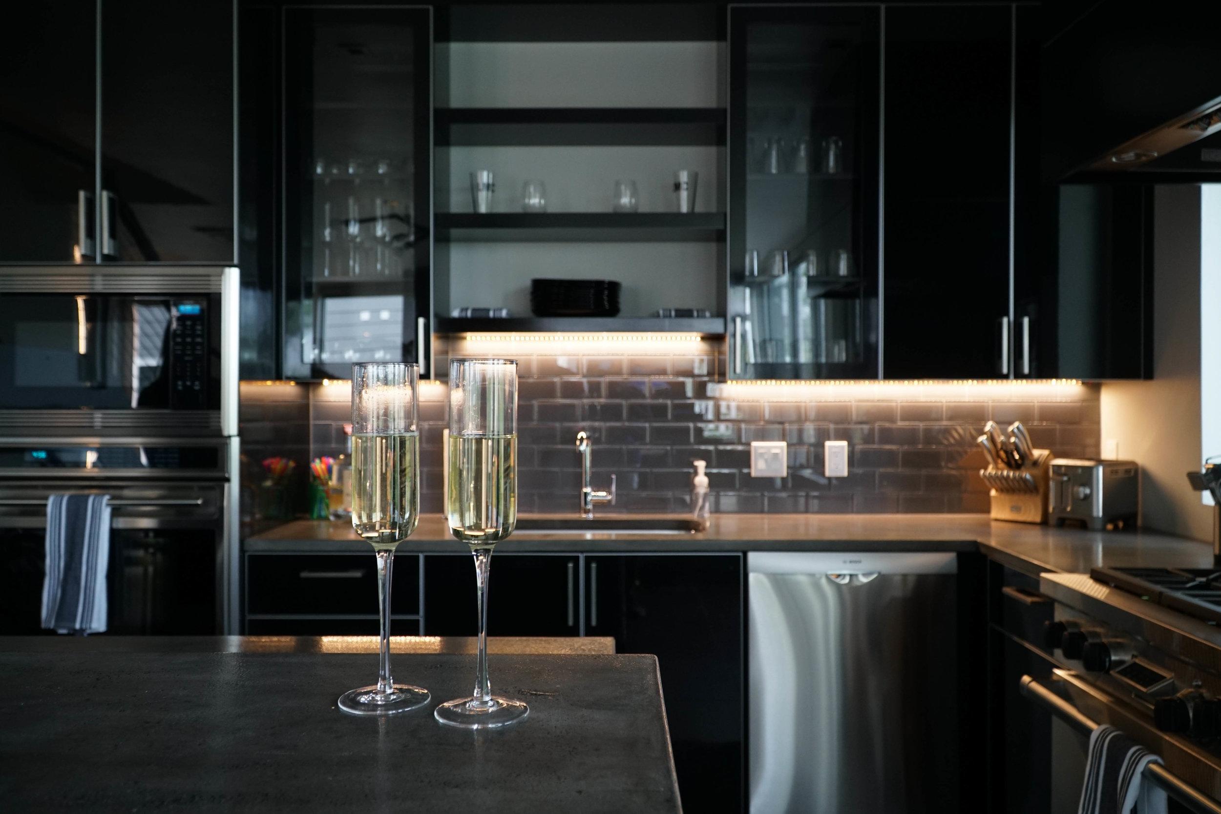 Monte Carlo's Chef's Kitchen boasts Wolf and Sub-Zero Appliances