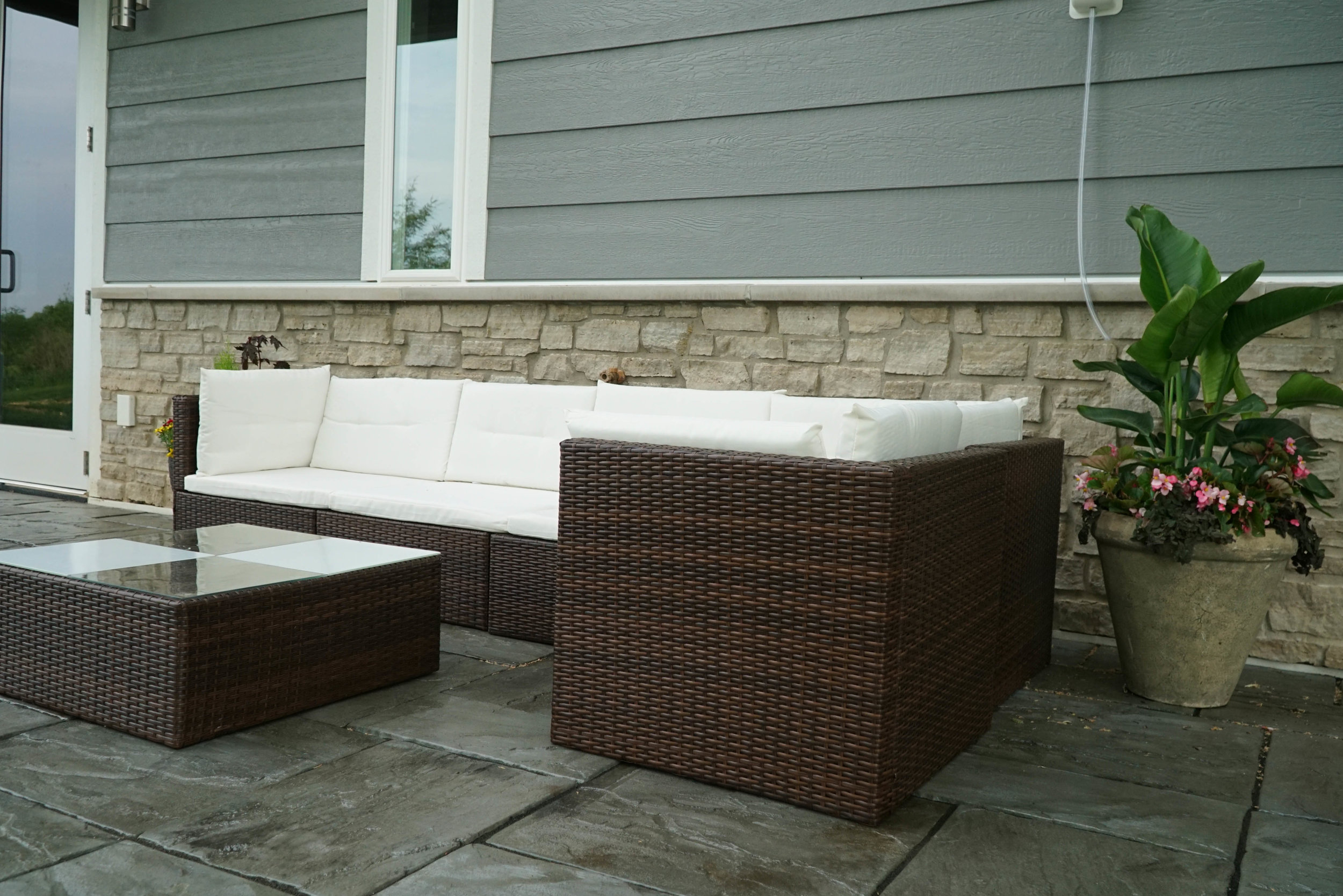 Monte Carlo's spacious patio space is perfect for warm summer nights in Elkhart Lake