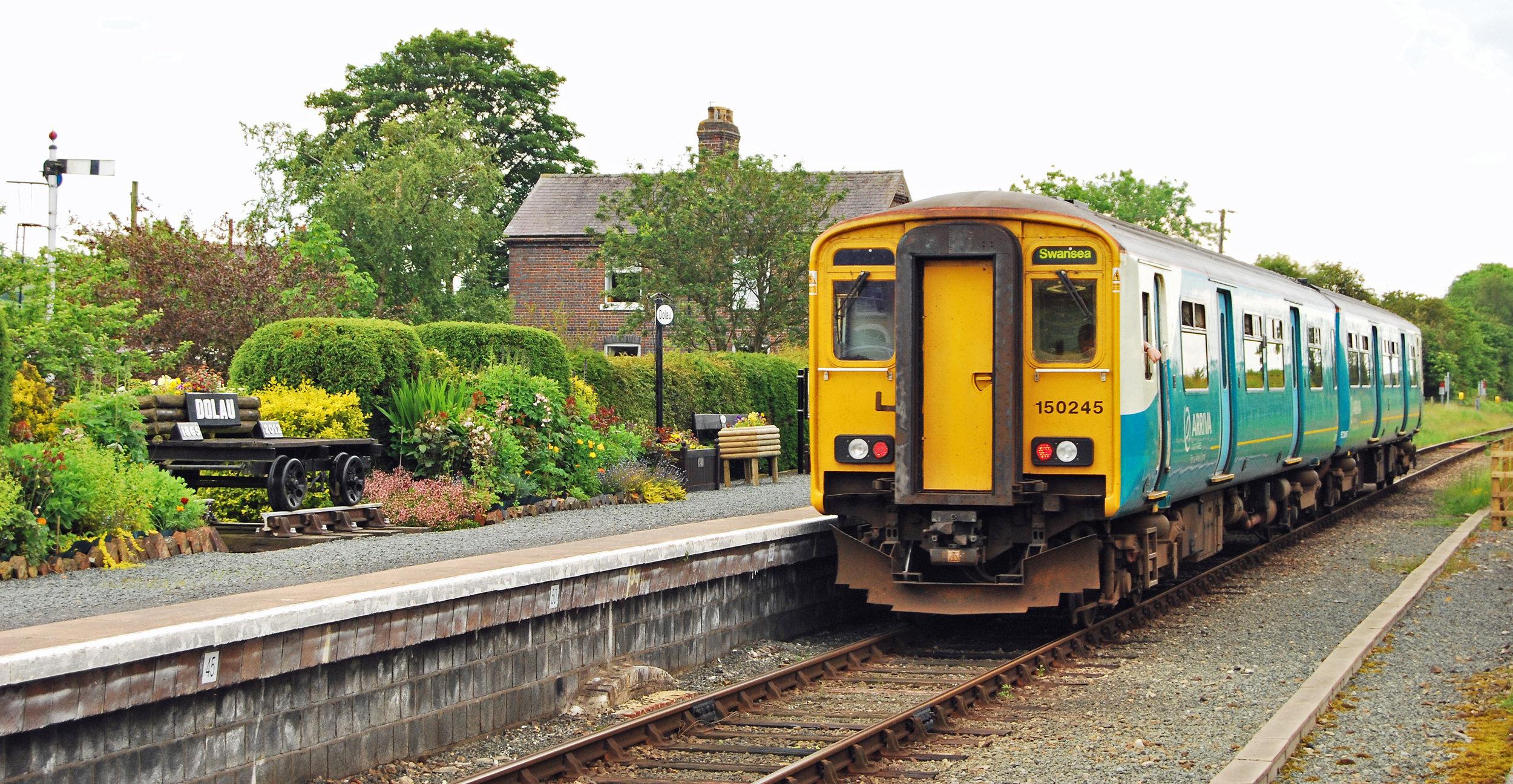 Arriva Wales train at Dolau station