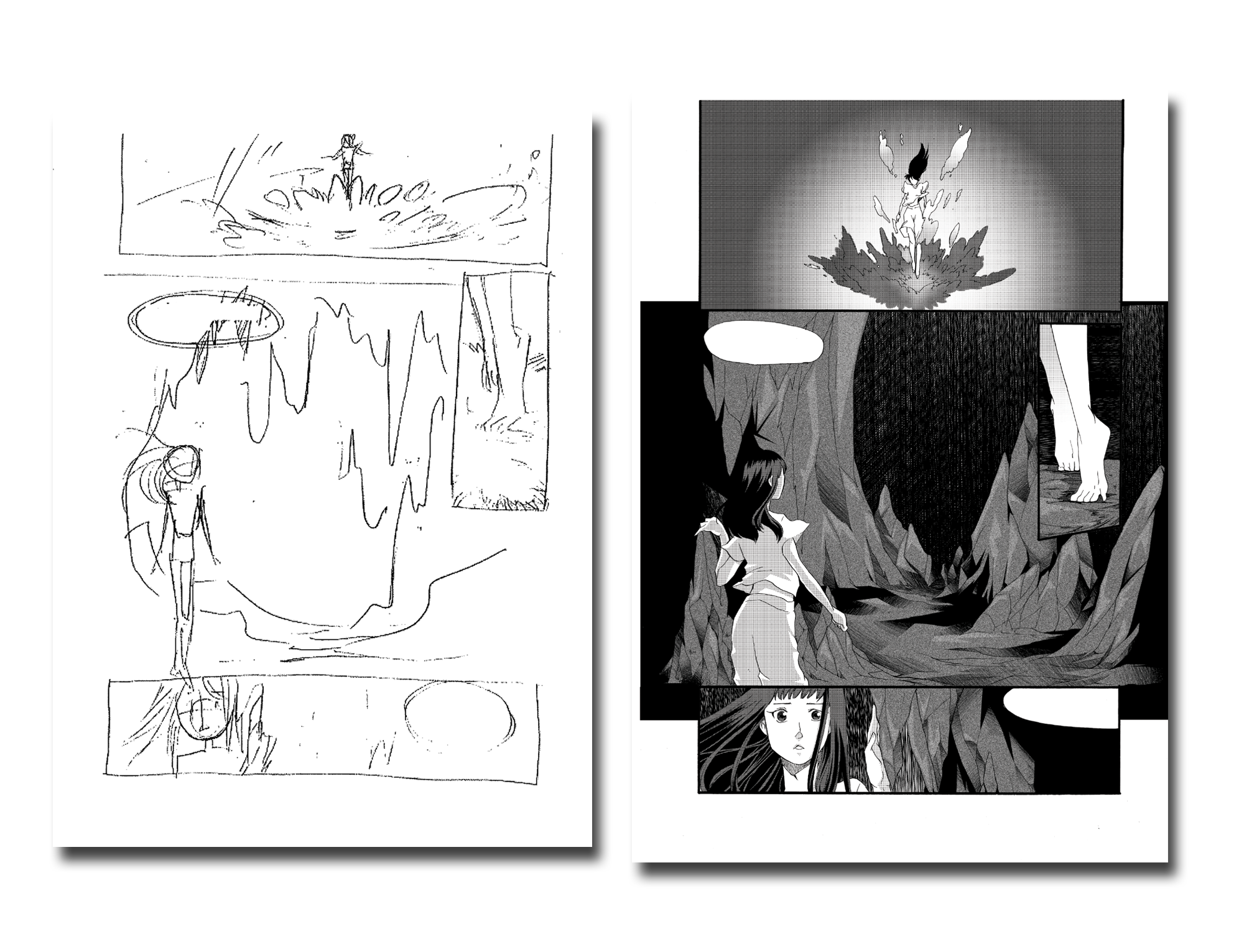 - I laid out all eight books in the series. Many speech bubbles needed to be expanded to fit english text. My job was to remain faithful to the artist's work and to have any alterations remain completely imperceptible on the finished page. I would fix errors in halftone shading and as needed in the line-art. I also aided in story development and tracking the lore throughout the project.