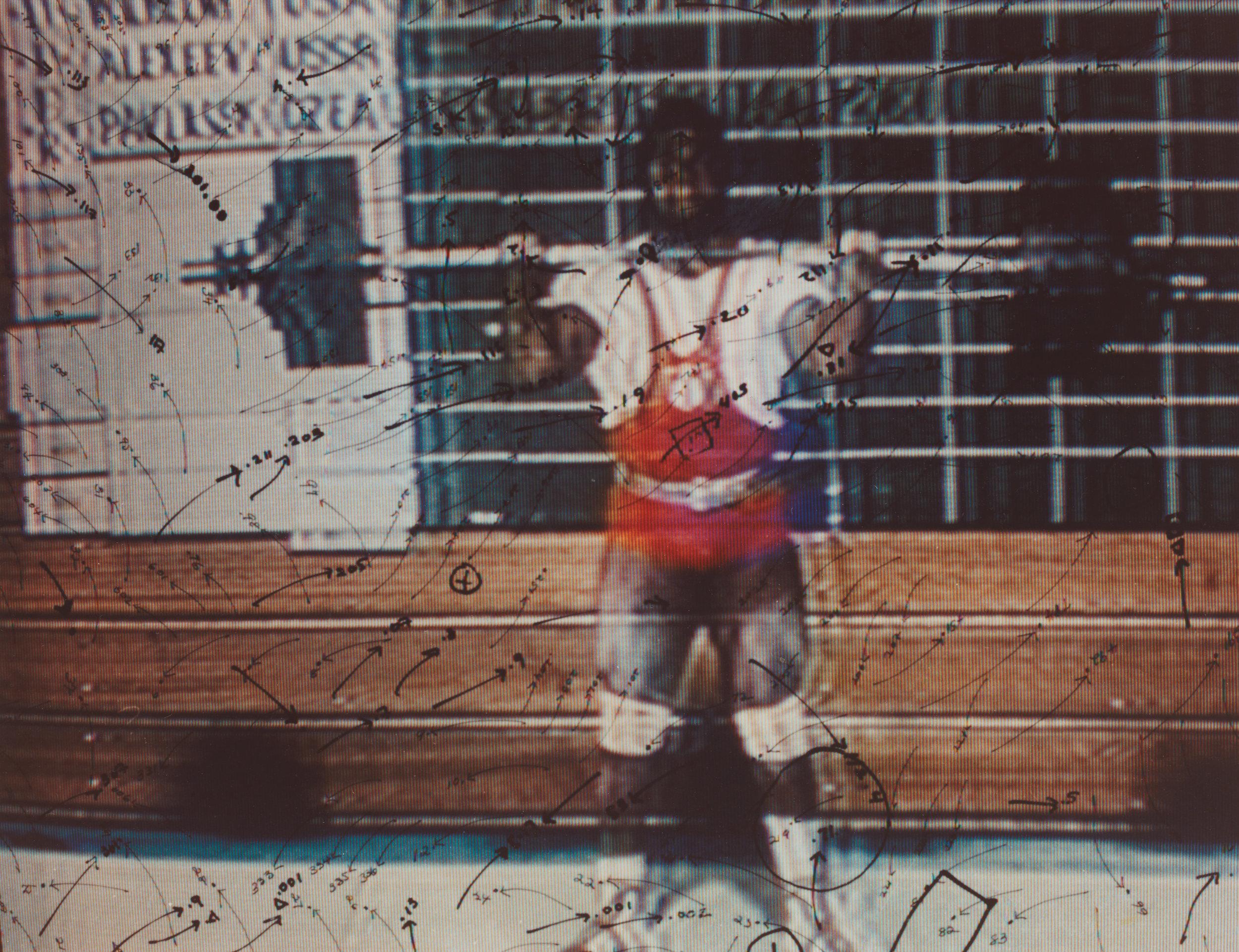 Video Drawings: Weightlifting, 1975